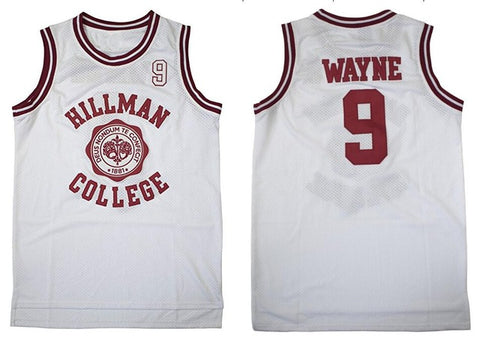 Dwayne Wayne #9 Hillman College Theater Basketball Jersey