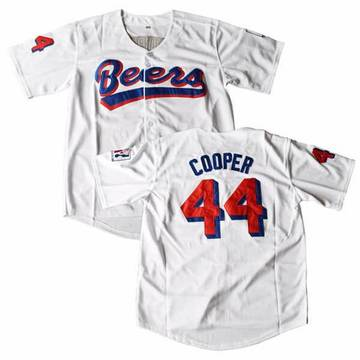 BASEketball Joe Cooper 45 Milwaukee Beers Baseball 90s Movie Jersey