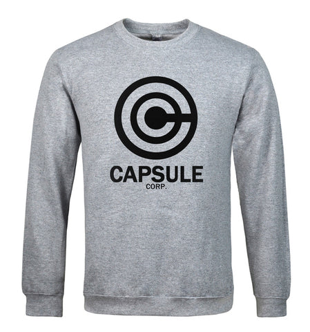 Dragon Ball Capsule Corp Crewneck Sweatshirt Grey