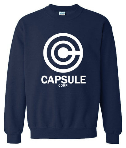 Dragon Ball Capsule Corp Crewneck Sweater Navy