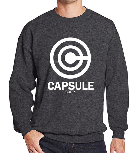 Dragon Ball Capsule Corp Crewneck Sweater Dark Grey