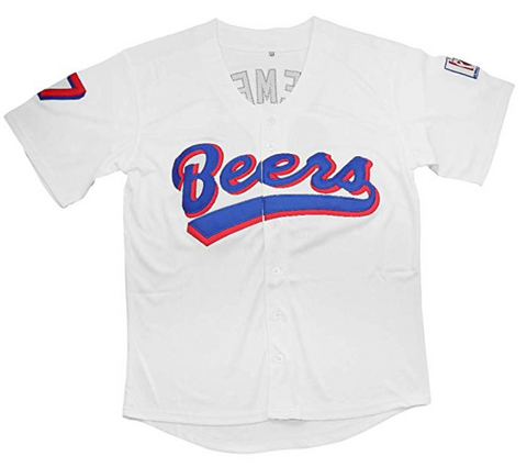 BASEketball Doug Remer 17 Milwaukee Beers Baseball 90s Movie Jersey