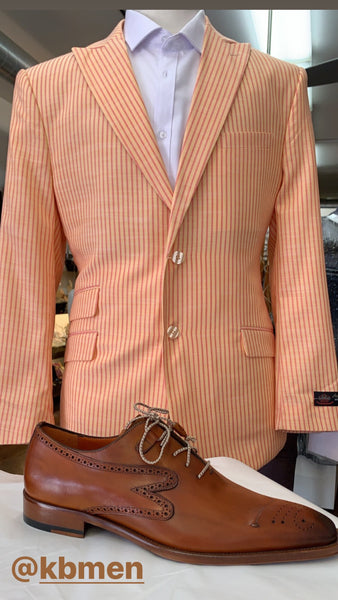 Men's summer stripe suit