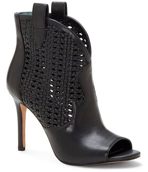 Jax leather woven bootie