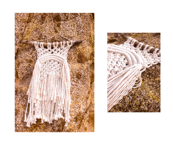handmade macrame at the beach