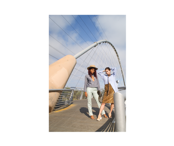 san mateo bridge women's fashion editorial