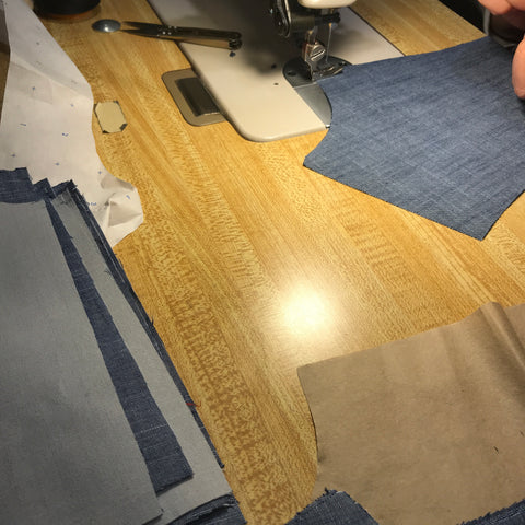 cut and sew san francisco manufacturing chambray denim tops