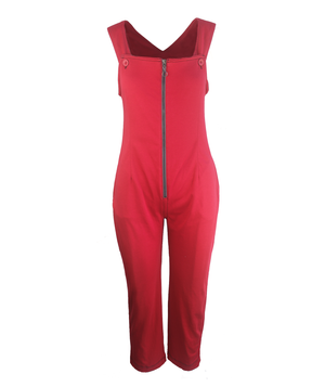 Juno Zippered Jumpsuit ~ Contrast Stitching