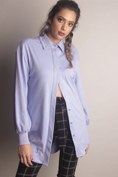 Jorja Button Up ~ Lilac