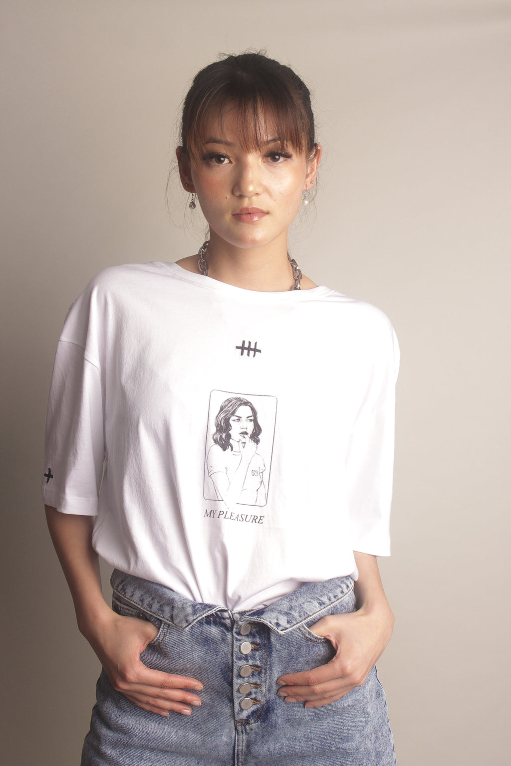 printed white t-shirt