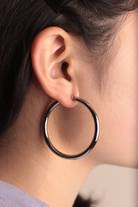 Silver Lining Hoop Earrings