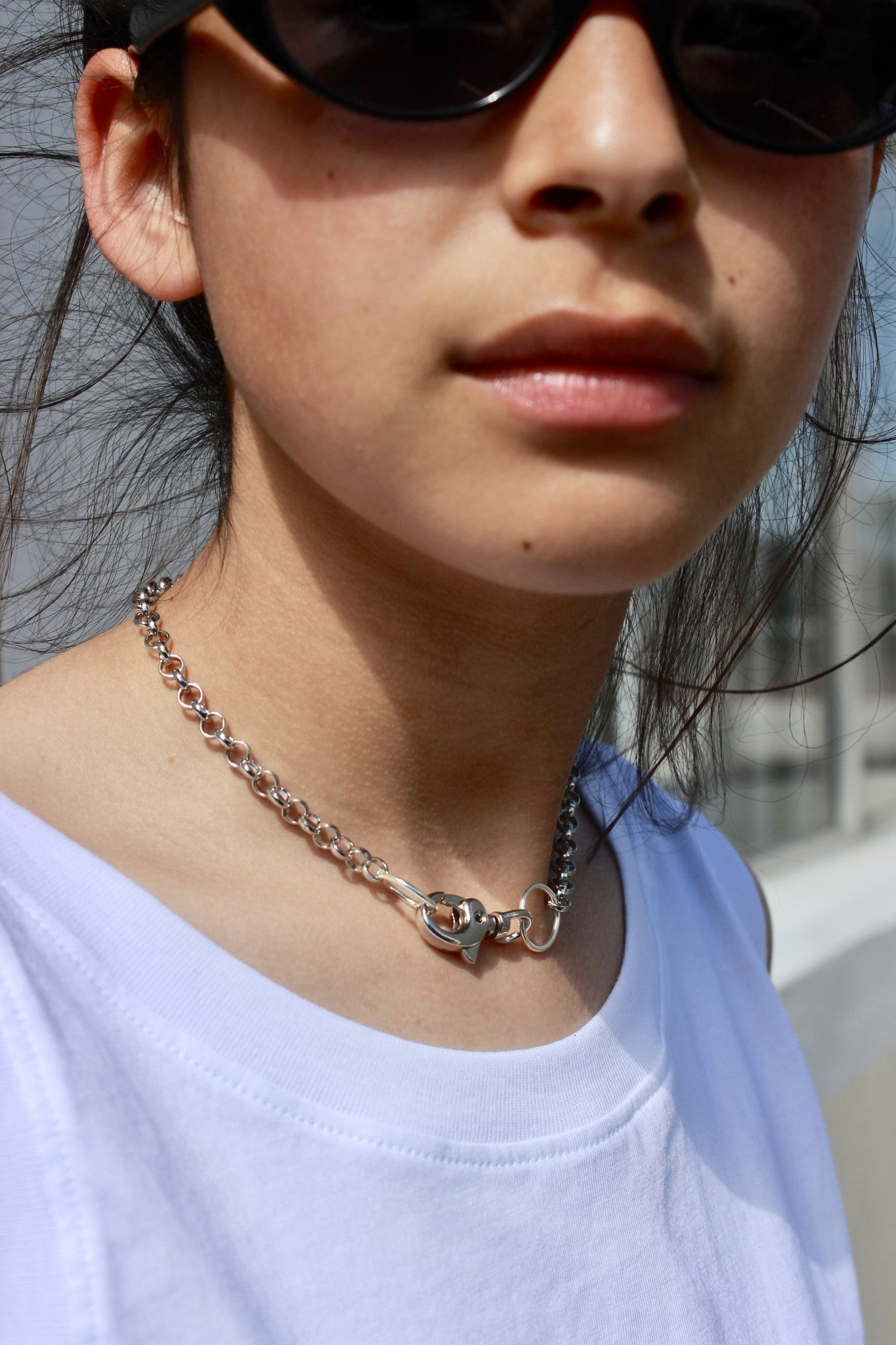 Lobster clasp street wear choker for an edgy fashion statement