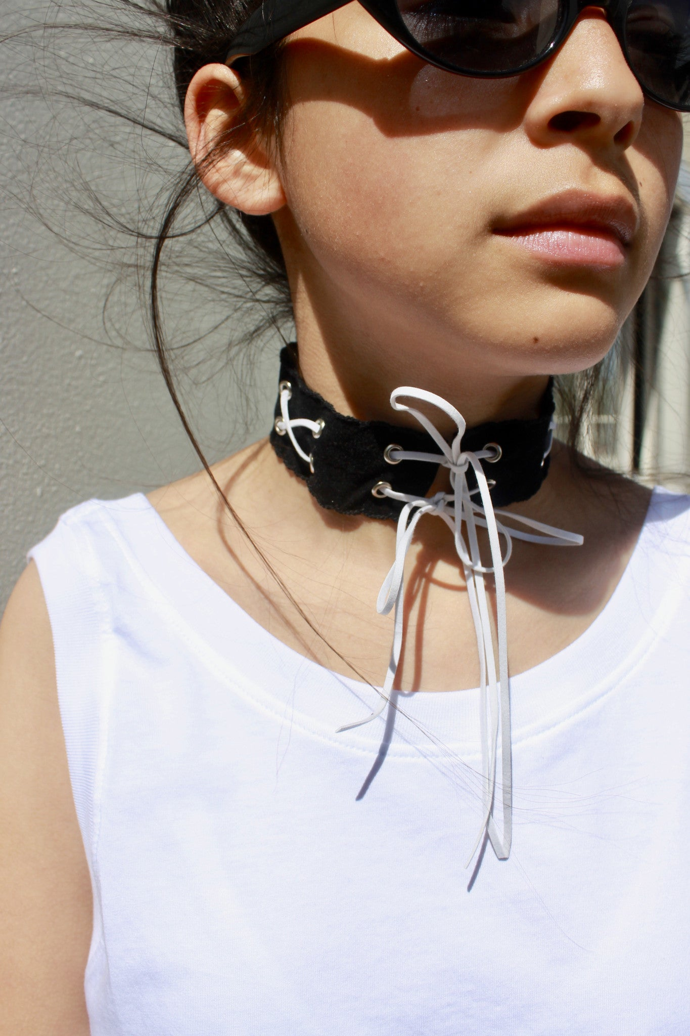 Customize this Consttant made velvet choker with colors of the rainbow