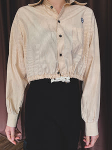 Remastered Vintage Cream Pinstripe Button Down
