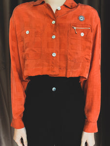 Remastered Vintage Orange Button Down with Pocket