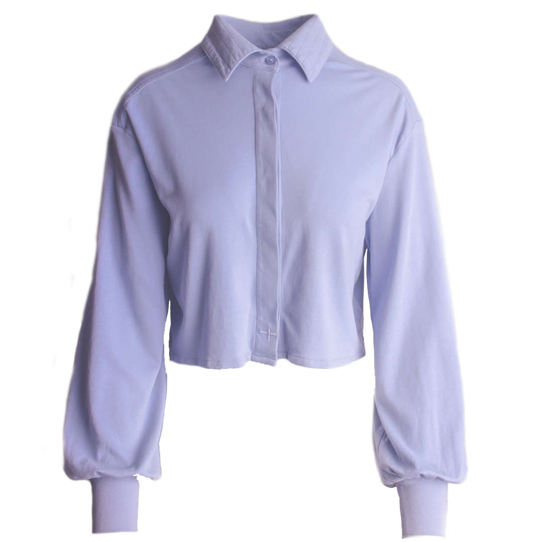 cropped long sleeve shirt