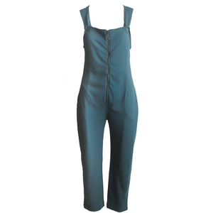 Juno Full Zip Jumpsuit ~ Deep Jade