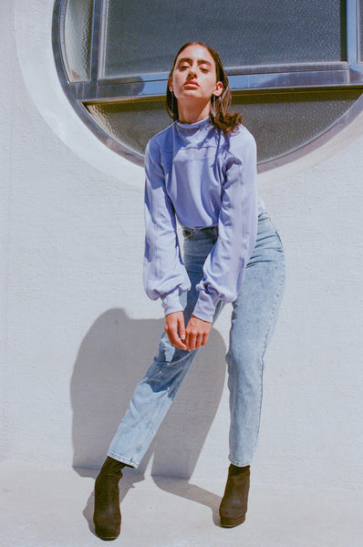 Emmie Mock Turtleneck ~ Lilac