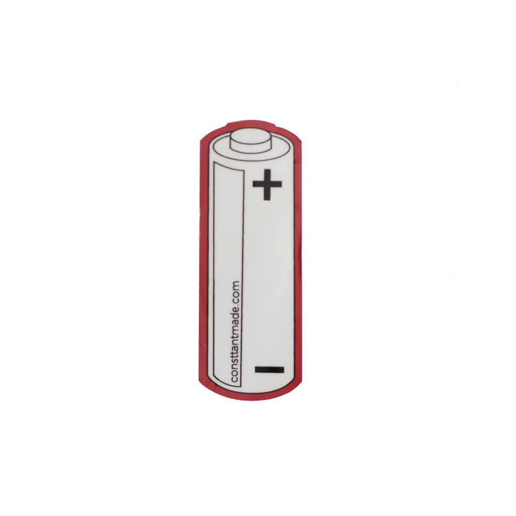 Consttant Battery Vinyl Sticker ~ Scarlet Red