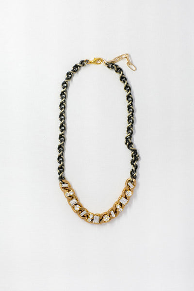 ANTIQUE BRASS & GOLD NECKLACE-Lydia LLC