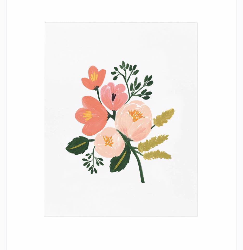 ROSE BOTANICAL PRINT-Lydia LLC