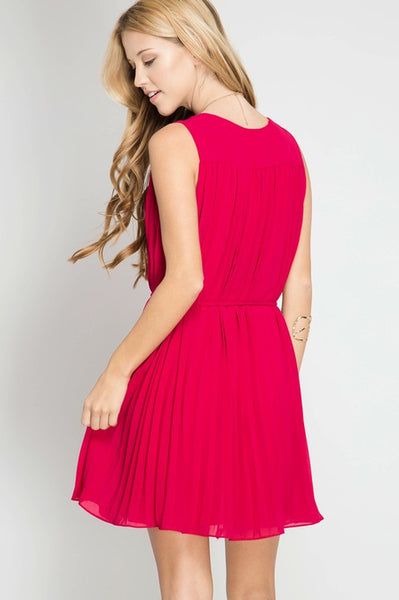 GEORGIA PLEAT DRESS-Lydia LLC