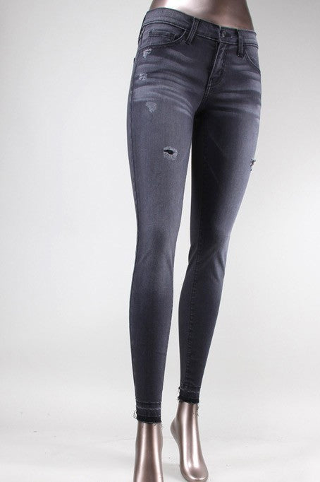 SUPER SOFT LET OUT HEM SKINNY-Lydia LLC