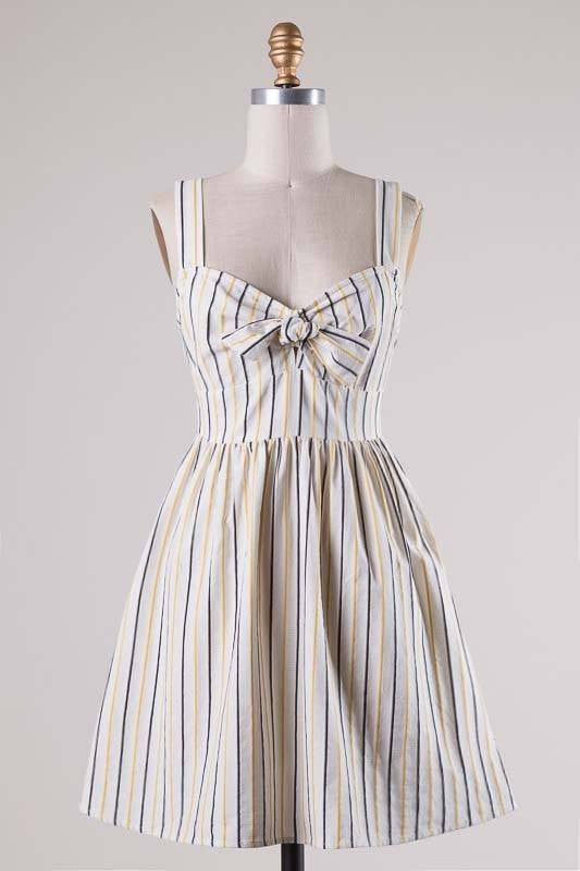 SWEETHEART STRIPED DRESS-Lydia LLC