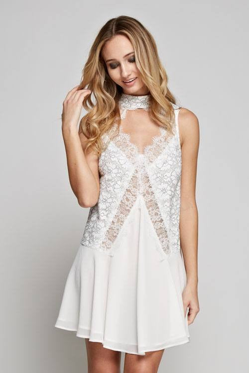LACE BODICE DRESS-Lydia LLC