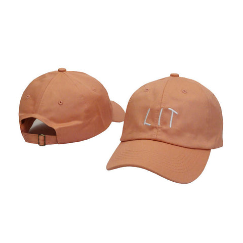 Lit Cap In Pink Salmon