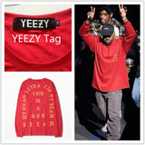 2016 New Arrival T shirt  Men Gains YEEZY Clothes I feel like Pablo Kanye West Season 3 Hip hop YEEZY YEEZUS Chinese size M-2XL