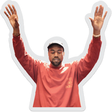 I feel like pablo, Kanye west prayer stance sticker
