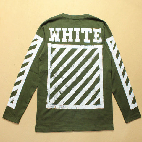 Army Green Sleeve White Style OAB