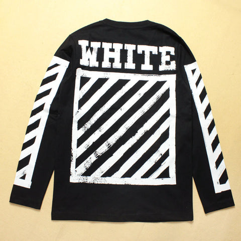 Black Long Sleeve White Style