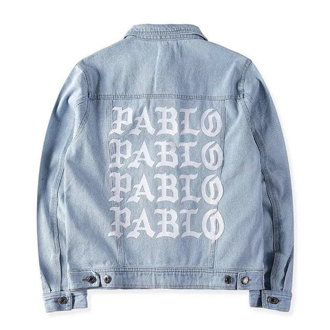 Light Denim Jacket I FEEL like PABLO TLOP oversized Kanye West yeezy jacket kim kardashian -  - 1
