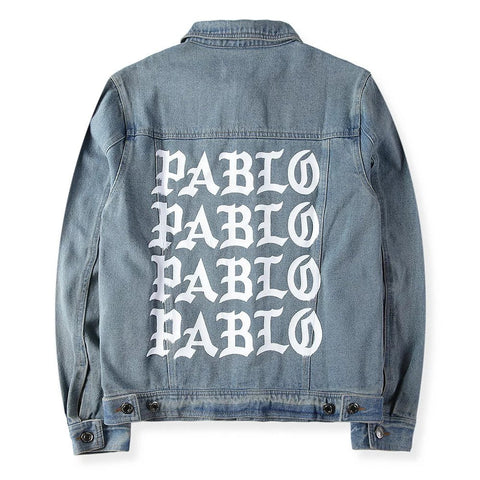 Dark Denim Jacket I FEEL like PABLO TLOP oversized Kanye West yeezy jacket kim kardashian - RawSells