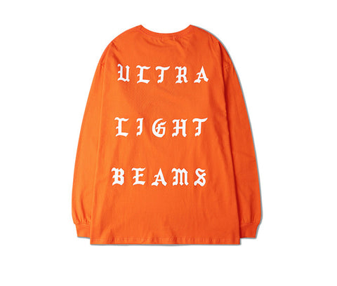 Ultra Light Beams Orange long tee, Kanye west pablo merch -  - 8