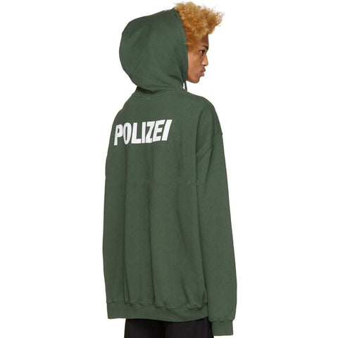 Knaye West Polizei Green Hoodies Kris Oversize Hoody Men fashion Swag Hip Hop Justin Bieber hoodie M-XL Cooo Coll - RawSells