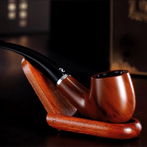 New Durable Wooden Enchase Smoking Pipe Tobacco Cigarettes Cigar Pipes Gift ZH648