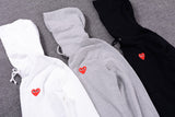 Red Heart Men Hoodies yung lean robe with hood black heart hoodie cotton Gold Heart Tops Unisex size s-xxxl -  - 6