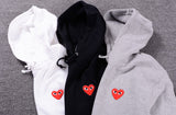 Red Heart Men Hoodies yung lean robe with hood black heart hoodie cotton Gold Heart Tops Unisex size s-xxxl -  - 5
