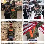 Vlone hoodie men friends sweatshirts hip hop streewear ASAP Rocky tracksuit new 2016 navy army camouflage jacket coat