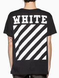 White Black Crossed Shirt