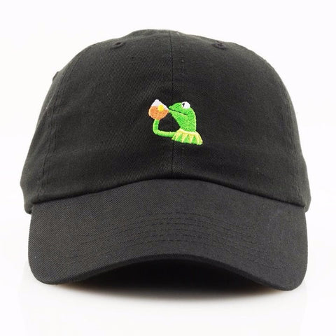 RARE Kermit None of my Business Strapback LeBron James New EXCLUSIVE Release Limited Tan Limited cap I Feel Like Pablo Yeezy drake caps - RawSells