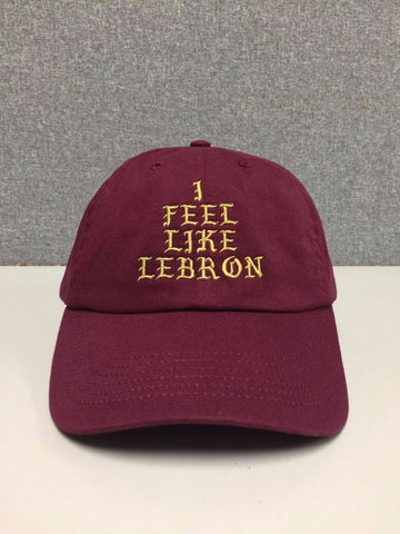 RARE I FEEL LIKE lebron Hat (slide buckle) james kanye west 350 370 cleveland cavs pablo cap drake palace caps -  - 1