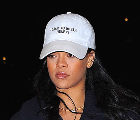 I Came To Break Hearts Embroidered Tumblr Style Baseball Cap Baseball Hat- As seen on Rihanna - RawSells
