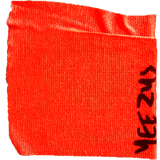 Yeezus red tape sticker - RawSells