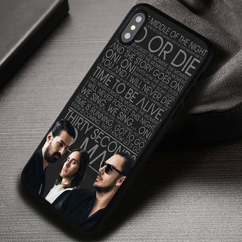 30 seconds to mars 5SOS - iPhone X Case