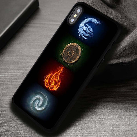 4 Symbols The Last Airbender Aang - iPhone X Case