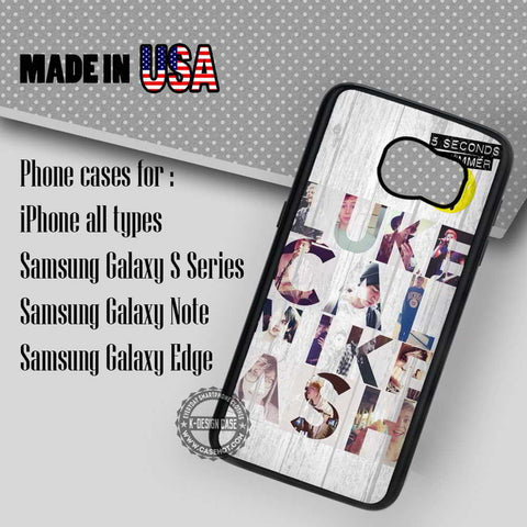 5 Seconds of Summer Band - Samsung Galaxy S7 S6 S5 Note 5 Cases & Covers - samsungiphonecases